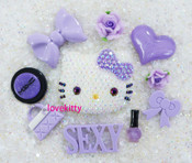 Sale !!! DIY Blinged Out AB Jelly Hello Kitty Phone Case Resin Cabochons Deco Kit Z418 --- lovekitty