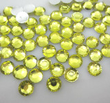 Light Yellow  --- 6mm  50pcs ---Rhinestones Round Flat back 14-facet ( High Quality ) --- lovekitty