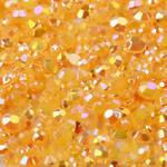Orange --- 500 pcs -- 4mm  AB Jelly Resin Flatback Rhinestones  --- lovekitty