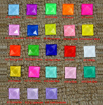 100 pieces 10mm Square Flatback Glass Rhinestones ( Gems ) Choose Your colors  --- by lovekitty