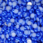 Dark Blue --- 5mm --- 1000 pieces flat back pearl cabochons --- lovekitty