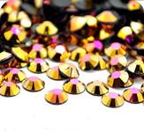 AB Gold --- 500 pcs -- 4mm  AB Jelly Resin Flatback Rhinestones  --- lovekitty