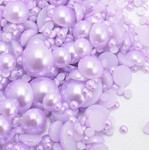 800 pieces Lavender Mixed Sizes Flatback Pearl Cabochons -- lovekittybling