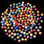 Mixed Color --- 8mm --- 100 pieces flat back ceramic pearl cabochon Beads --- lovekitty
