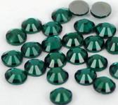 Dark Green -- Hotfix Glass Crystal Rhinestone -- 1440 pcs / Pack Flatback Round High Quality Compare to SWAROVSKI