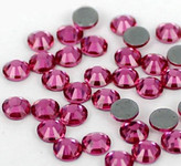 Fuchsia -- Hotfix Glass Crystal Rhinestone -- 1440 pcs / Pack Flatback Round High Quality Compare to SWAROVSKI