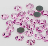 Light Pink -- Hotfix Glass Crystal Rhinestone -- 1440 pcs / Pack Flatback Round High Quality Compare to SWAROVSKI
