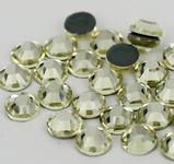 Light Yellow -- Hotfix Glass Crystal Rhinestone -- 1440 pcs / Pack Flatback Round High Quality Compare to SWAROVSKI