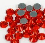 Oange Red -- Hotfix Glass Crystal Rhinestone -- 1440 pcs / Pack Flatback Round High Quality Compare to SWAROVSKI
