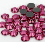 Rose Pink -- Hotfix Glass Crystal Rhinestone -- 1440 pcs / Pack Flatback Round High Quality Compare to SWAROVSKI
