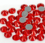 Light Red -- Hotfix Glass Crystal Rhinestone -- 1440 pcs / Pack Flatback Round High Quality Compare to SWAROVSKI