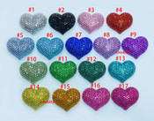 1 pc Fully Blinged out Heart Resin Flatback Cabochon  -- by lovekittybling
