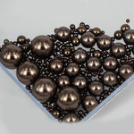 800 pieces Dark Brown Mixed Sizes Round Pearl Cabochons ( no hole )-- lovekittybling