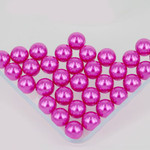 800 pieces Fuchsia Mixed Sizes Round Pearl Cabochons ( no hole )-- lovekittybling