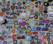 Copy of 20 pieces wholesale lot Assorted Sew or iron on embroidered patches appliques -- by lovekitty