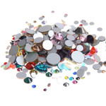 Mixed Colors -- 5000 pcs Assorted 9 Sizes Crystal Glass Rhinestones Flatback High Quality no hotfix Wholesale Pack Lot ---- by lovekittybling