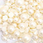 750 pieces Cream Flatback Pearl Cabochons -- by lovekitty