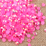 AB Rose Pink - 1000 2mm 3mm 4mm 5mm or 100 6mm Jelly AB Flatback Resin Rhinestones Candy Cab Nail Art / DIY Deco Bling Kit Embellishment-- lovekitty