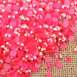AB Fuchsia  - 1000 2mm 3mm 4mm 5mm or 100 6mm Jelly AB Flatback Resin Rhinestones Candy Cab Nail Art / DIY Deco Bling Kit Embellishment-- lovekitty