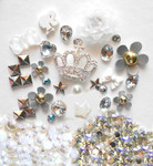 DIY 3D Rhinestones Crown Resin Flat back Kawaii Cabochons Deco Kit / Set Z273 -- lovekitty
