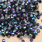 Ab Black - 1000 2mm 3mm 4mm 5mm or 100 6mm Jelly AB Flatback Resin Rhinestones Candy Cab Nail Art / DIY Deco Bling Kit Embellishment-- lovekitty