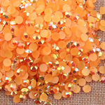 AB Orange Red - 1000 2mm 3mm 4mm 5mm or 100 6mm Jelly AB Flatback Resin Rhinestones Candy Cab Nail Art / DIY Deco Bling Kit Embellishment-- lovekitty