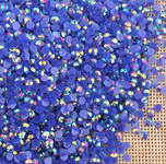 AB Dark Blue - 1000 2mm 3mm 4mm 5mm or 100 6mm Jelly AB Flatback Resin Rhinestones Candy Cab Nail Art / DIY Deco Bling Kit Embellishment-- lovekitty