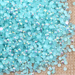 AB Lake Blue - 1000 2mm 3mm 4mm 5mm or 100 6mm Jelly AB Flatback Resin Rhinestones Candy Cab Nail Art / DIY Deco Bling Kit Embellishment-- lovekitty