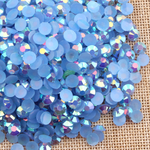 AB Light Blue - 1000 2mm 3mm 4mm 5mm or 100 6mm Jelly AB Flatback Resin Rhinestones Candy Cab Nail Art / DIY Deco Bling Kit Embellishment-- lovekitty