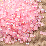 AB Pink - 1000 2mm 3mm 4mm 5mm or 100 6mm Jelly AB Flatback Resin Rhinestones Candy Cab Nail Art / DIY Deco Bling Kit Embellishment-- lovekitty