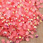 AB Dark Pink - 1000 2mm 3mm 4mm 5mm or 100 6mm Jelly AB Flatback Resin Rhinestones Candy Cab Nail Art / DIY Deco Bling Kit Embellishment-- lovekitty