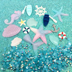 LOVEKITTY --    DIY 3D Under the sea mermaid deco Set blingbling Kawaii Resin Flatback Decoden Cabochons Deco Kit