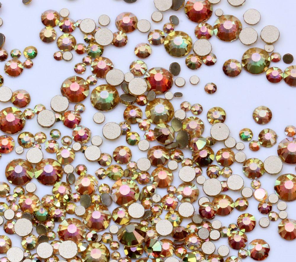 2a9a7b755000 New Color - Crystal Glass Rhinestones Flatback High Quality no ...