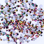 New Color - Crystal Glass Rhinestones Flatback High Quality no hotfix Wholesale Pack Lot -- SS4-SS30 Choose your size Compare to SWAROVSKI