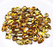 Gold --- 30 pcs Medium size Mixed lot Cut Back Crystal Glass Gems  ---- lovekittybling