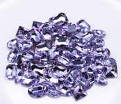 Lavender  --- 30 pcs Medium size Mixed lot Cut Back Crystal Glass Gems  ---- lovekittybling