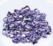 Lavender  --- 30 pcs Medium size Mixed lot Cut Back Crystal Glass Gems  ---- lovekittybling
