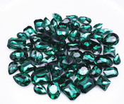 Dark Green  --- 30 pcs Medium size Mixed lot Cut Back Crystal Glass Gems  ---- lovekittybling