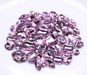 Pink  --- 30 pcs Medium size Mixed lot Cut Back Crystal Glass Gems  ---- lovekittybling