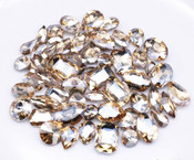 Champagne  --- 30 pcs Medium size Mixed lot Cut Back Crystal Glass Gems  ---- lovekittybling