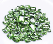 Light Green  --- 30 pcs Medium size Mixed lot Cut Back Crystal Glass Gems  ---- lovekittybling