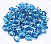 Light Blue  --- 30 pcs Medium size Mixed lot Cut Back Crystal Glass Gems  ---- lovekittybling