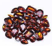 Brown  --- 30 pcs Medium size Mixed lot Cut Back Crystal Glass Gems  ---- lovekittybling