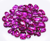 Fuchsia  --- 30 pcs Medium size Mixed lot Cut Back Crystal Glass Gems  ---- lovekittybling