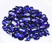 Navy Blue  --- 30 pcs Medium size Mixed lot Cut Back Crystal Glass Gems  ---- lovekittybling