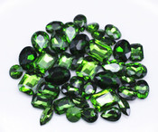Green  --- 30 pcs Medium size Mixed lot Cut Back Crystal Glass Gems  ---- lovekittybling