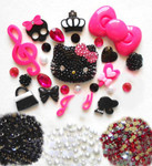 DIY 3D Blinged out Hello Kitty Kawaii Cabochons Deco Kit / Set Z269 -- lovekitty