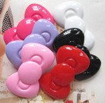 3 pcs Cute Japanese Kawaii Flat  Back Resin Cabochons  ---  lovekitty