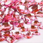 30 pcs Pink Flat Back Mixed Sizes Gems-- lovekittybling