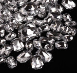 30 pcs Clear Cut Back Mixed Sizes Gems-- lovekittybling